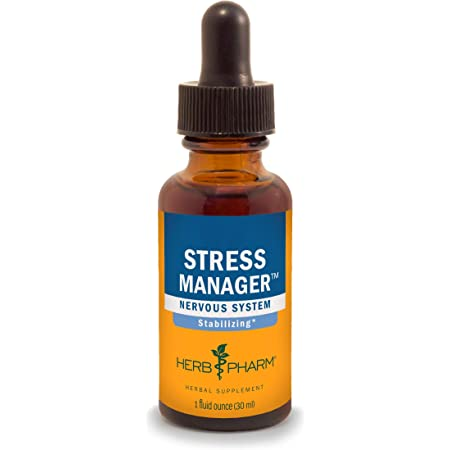 Herb Pharm Stress Manager Herbal Formula with Rhodiola and Holy Basil Extracts, 1 Ounce (FSTRESS01)