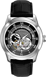 Bulova - Automatic 96A135 - Reloj Automático de Diseño para Hombre - Correa de Cuero - Esfera Negra