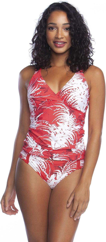 激安通販ショッピング La Blanca Women's Standard スピード対応 全国送料無料 Underwire Back Cross Swimsuit Tankini