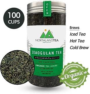 Organic Gynostemma Tea - Jiaogulan Tea - Loose Leaf , No sticks - Freshest production in every month - Caffeine Free - Eternal life Herb - 100g (3.52 oz) Northlandtea