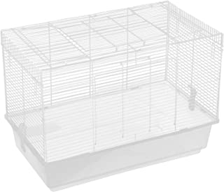 Wire Cage, Transparent Easy Installation Pet Basic Cage Metal+Plastic Portable for Cats Dogs for Small Pets(Large)