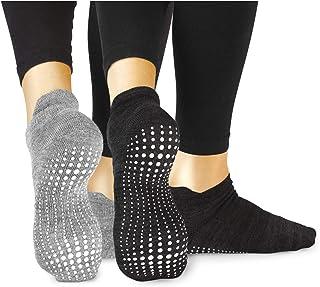 comprar comparacion LA Active Calcetines Antideslizantes - Para Yoga Pilates Ballet Barre Mujer Hombre