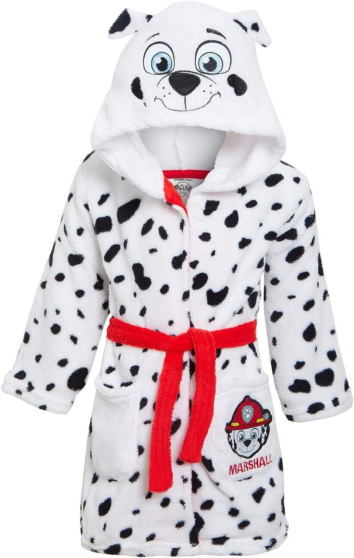 Paw Patrol 3D Hooded Bathrobe Luxury Fleece Dressing Gown Chase Marshall Bath Robe