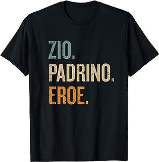Uomo Zio Eroe Padrino Regalo per i padrini Maglietta
