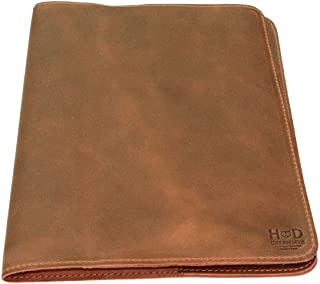 Hide & Drink, Rustic Leather Journal Cover (8.5 x 11 in.) / Refillable Moleskine Cahier XXL Handmade Includes 101 Year Warranty :: Single Malt Mahogany