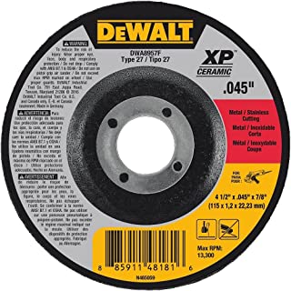DEWALT DWA8957F T27 XP CER Fast Cut-Off Wheel,  4-1/2 x 0.045 x 7/8