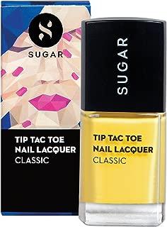 SUGAR Cosmetics Tip Tac Toe Nail Lacquer - 066 Sunny Side Up (Pastel Yellow)