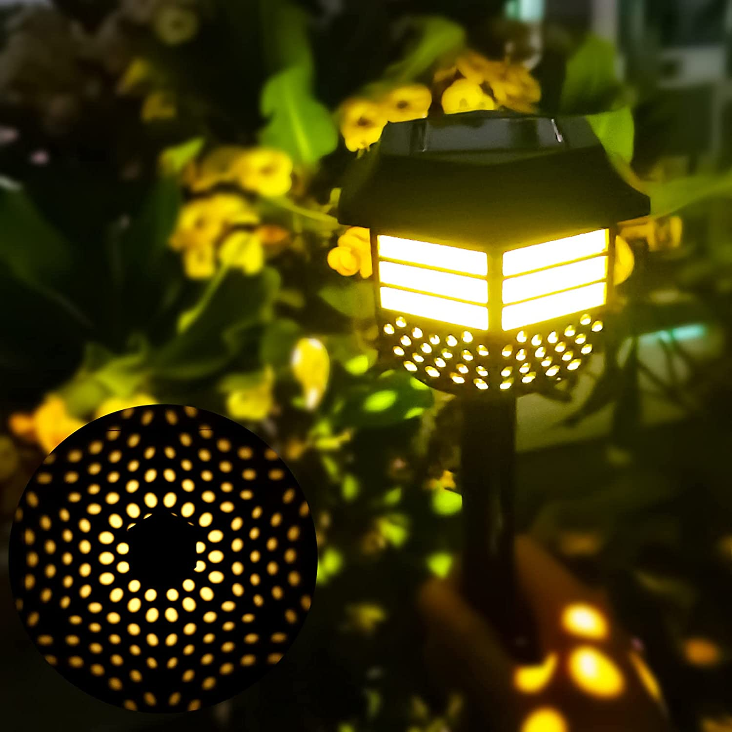 Kihoplly 2-Pack Outdoor Lighting Solar Pathway Lights  $9.98 Coupon