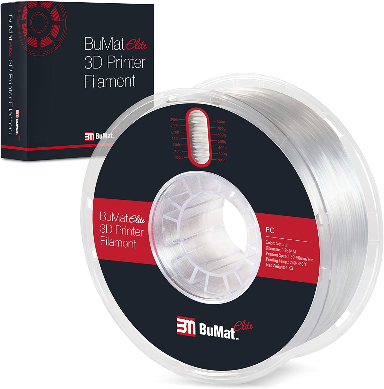 BUMAT Elite PC Polycarbonate 55% OFF Filled Printer 1.75m Filament Super beauty product restock quality top! 3D