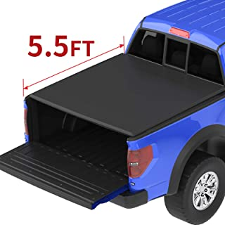 oEdRo Roll Up Truck Bed Tonneau Cover Compatible with 2009-2014 Ford F-150 F150 with 5.5 Feet Bed, Styleside