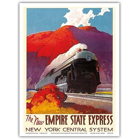 Poughkeepsie New York Central Railroad Train Poster Travel Comfort Art Print 361