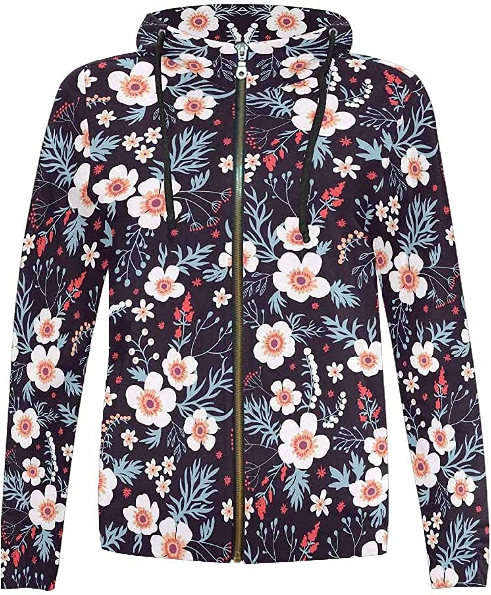 InterestPrint Outlet sale latest feature Samll Flowers Icon Boys Full Hooded Jackets Girls