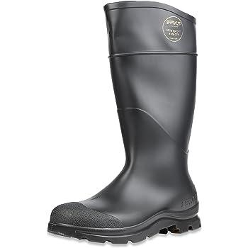 "Servus Comfort Technology 14"" PVC Steel Toe Men's Work Boots, Black - Steel Toe, 8"