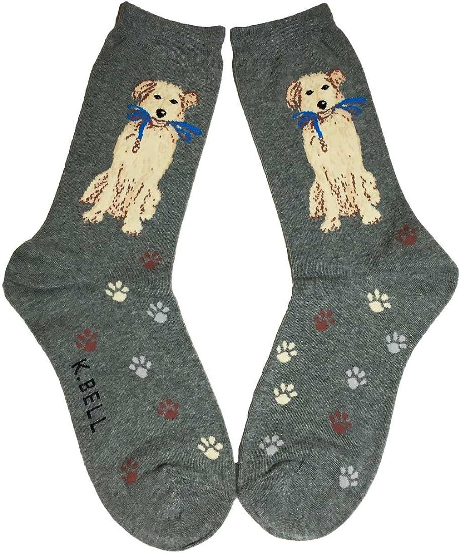 Aesthetinc Women Dog Walk Novelty Max 86% OFF Charocal Cotton Crew Hea Socks specialty shop