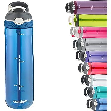 Contigo Ashland Autospout Water Bottle with Flip Straw, Large BPA Free Drinking Bottle, Sports Flask, Leakproof Gym Bottle, Dishwasher Safe, Ideal for Sports, Bike, Running, Hiking, 720 ml