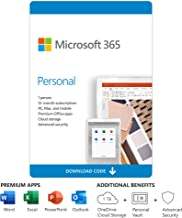 Microsoft 365 Personal | 12-Month Subscription, 1 Person | Premium Office Apps | 1TB OneDrive Cloud Storage | PC/Mac Download