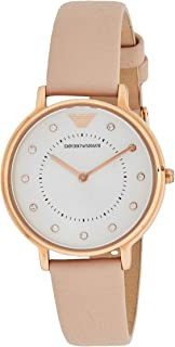 Emporio Armani Women's Silver Dial Leather Analog Watch - AR2510