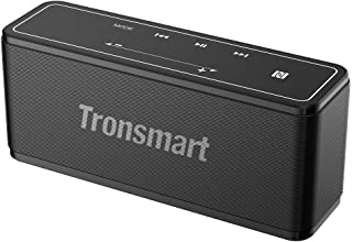 Bluetooth Speaker, Tronsmart Mega 40W Portable Speaker with 15-Hour Playtime, TWS, Dual-Driver, Built-in Mic, NFC, Deep Bass, LED Backlighting Touch Panel for Outdoor Indoor -Grey