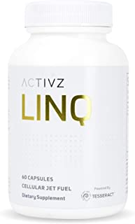 LINQ Cellular Jet Fuel - Leaky Gut Management - Gut/Brain Connection - Highly Bioavailable Butyric Acid Supplement - Patented Delivery Technology (60 Capsules, 1 Month Supply)