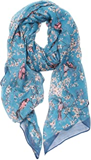 DiaryLook Ladies Women's Fashion Bird Print Long Scarves Floral Neck Scarf Shawl Wrap