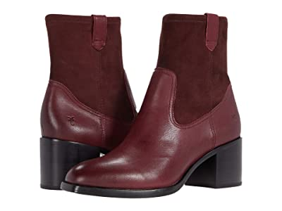 Frye Monroe Stretch Bootie (Burgundy Vintage Veg Tan/Stretch Leather) Women