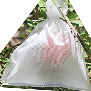 AllwaySmart 100 Reusable Fruit Protection Bags from Birds Bugs and Flies. 7 x 9 1/2 Inches May Not Work with Determined Squirrels