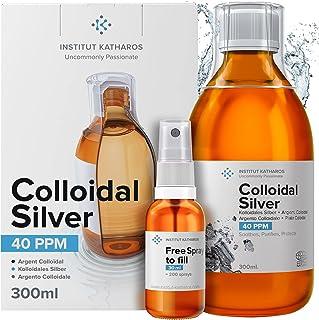 Argent Colloïdal 300 ml ● 40 PPM 100% Naturel ● Bouchon Doseur & Spray 30ml à Remplir ● Certifié Ecocert Cosmos Natural ● ...