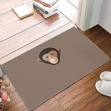 KAROLA Indoor Doormats Waterproof Shoes Scraper Entryway Rug for Kitchen Floor Bathroom Patio Porch Front Door Mat Home Decor Recycled Rubber Non Slip,Monkey (20