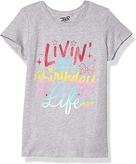 JoJo Siwa Girls J6SS190-3710 Living Birthday Life Short Sleeve Tee Short Sleeve T-Shirt - Gray