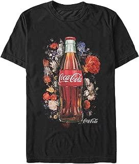 Coca Cola Men's Bottle Floral Print T-Shirt