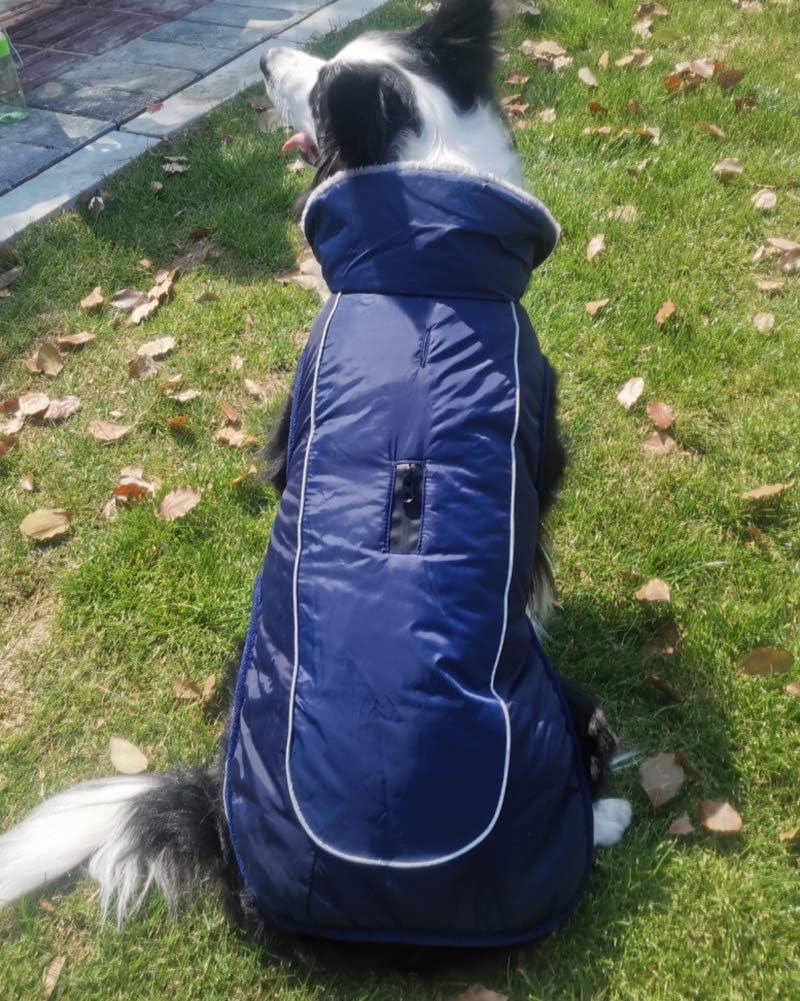 Abrigos para Perros Forro Polar C/álido Chaleco para Mascotas Chaleco para Nieve a Prueba de Viento Traje con Orificio para Arn/és,Armada,XS DaiHan Chaqueta para Perros