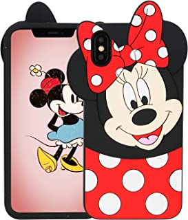 "lalakaka funny minnie case for iphone x/xs 5.8"",animal character 3d cartoon cute silicone soft"