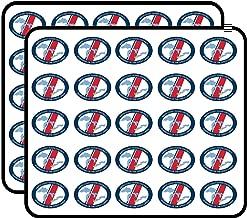 Oval Ninth Coast Guard District Seal - Guardians Great Lakes mi Sticker for Scrapbooking, Calendars, Arts, Kids DIY Crafts, Album, Bullet Journals 50 Pack