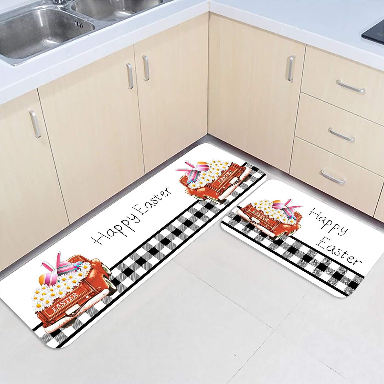 2 Pieces Kitchen 2021 spring and summer new Mats Floor Area Non-Slip Long-awaited Farm Rug Doormat Set