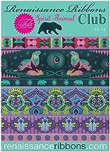 Renaissance Ribbons Designer Pack CL-15 - Tula Pink, Spirit Animal (6 Ribbons, 1yd Each)