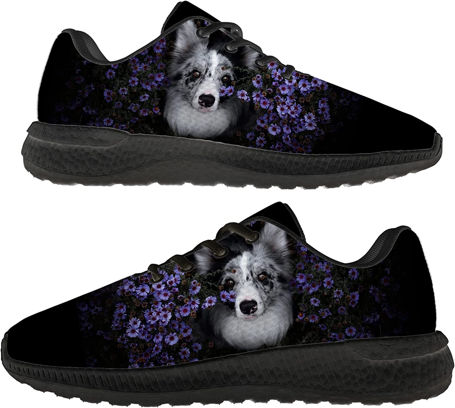 Border Collie Shoes for Women Men 3D Print Breathable Casual Ultra Comfort Athletic Sneaker Gifts for Holiday