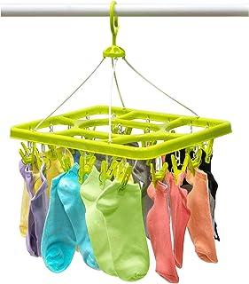 Artmoon Remark - Cintre d'Égouttement pour Sous-Vêtements et Chaussettes avec 24 Pinces Fortes – Séchoir à Pinces - 38.5 x...