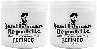 2 Pack Gentlemen Republic 16oz Grooming Hard Hold & Shine Mold Hair Styling Gel