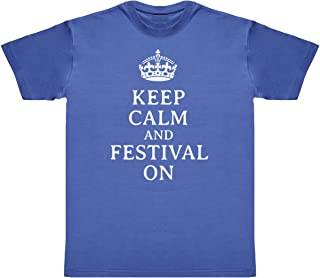 Keep Calm and Festival on Men's Novelty T-Shirt, Mens Gift, Gift for Him, Mens Top