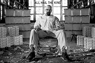 Breaking Bad Poster ~ All Hail The King ~ Walter White in a Room Full of CASH! ~ 24x36