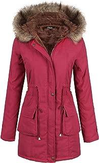 Women Parka Winter Long Coat Faux Fur Lined Anroak Jacket with Hood