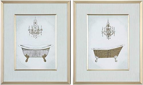 "new arrival Uttermost online Gilded Bath 24 1/4"" High 2-Piece Framed Wall Art high quality Print Set online"