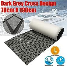 CHURERSHINING EVA Boat Decking Sheet Marine Teak Flooring Carpet with Backing Adhesive 74.8
