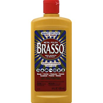 Brasso 2660089334 8 oz Metal Polish for Brass, Copper, Stainless, Less Than 10 Ounces