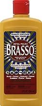 Brasso Metal Polish, 8 oz Bottle for Brass, Copper, Stainless, Chrome, Aluminum, Pewter & Bronze, 8 oz