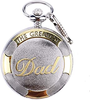 GORBEN Pocket Watch with Chain Dad Gifts Vintage Roman Numerals Quartz Man Watch from Duaghter or Son with Box