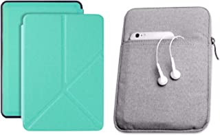 Capa Kindle Paperwhite 10ª geração à prova d'água Verde Menta Origami - Função Liga/Desliga - Fechamento magnético + Bolsa...