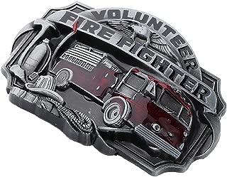 IPOTCH Vintage Men Fire Truck Fire Fighter American Style Hip Hop Alloy Belt Buckle