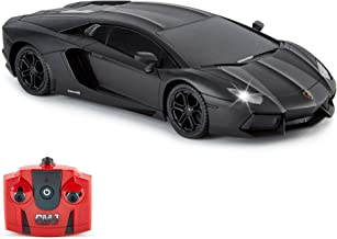 Lamborghini Aventador Official Licensed Remote Control Car with Working Lights, Radio Controlled On Road RC Car 1:24 Scale...