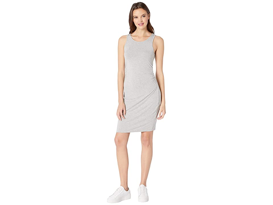 Bebe Sleeveless Logo Dress (Grey) Women